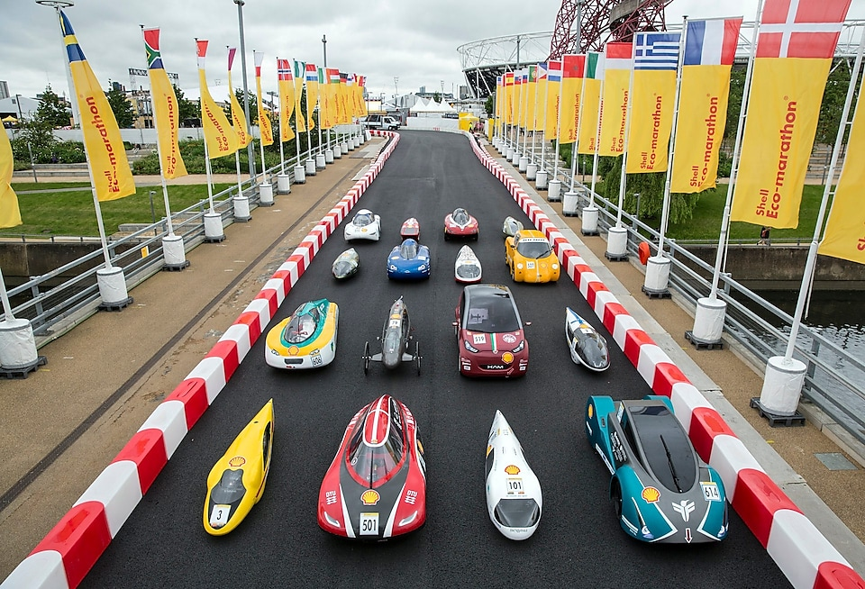 Car line up for the family portrait during day one Make the Future London 2016