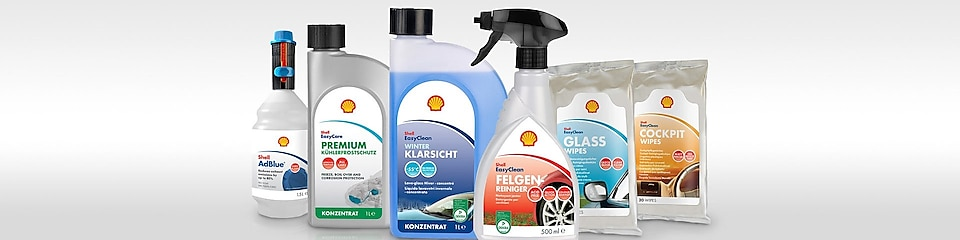 The Shell car care range - fast and reliable